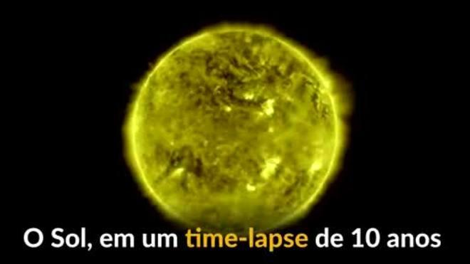 Nasa divulga time-lapse do Sol feito ao longo de 10 anos