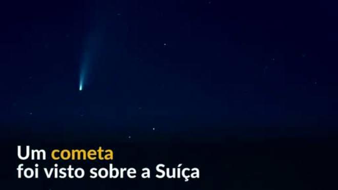 Telescópio da Nasa registra cometa Neowise no céu da Suíça