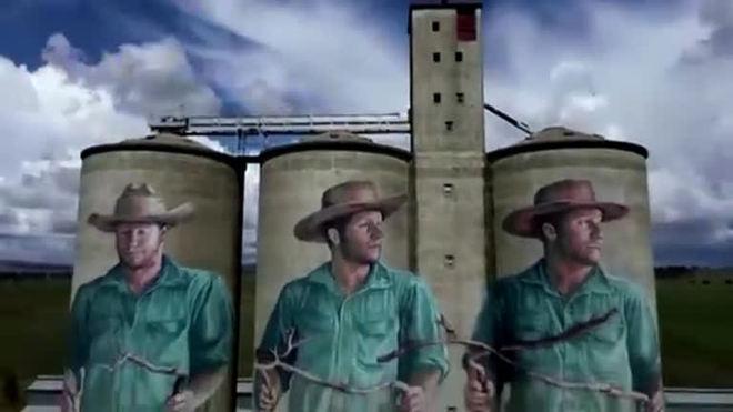Drone mostra de perto gigantescas pinturas em silos na Austrália