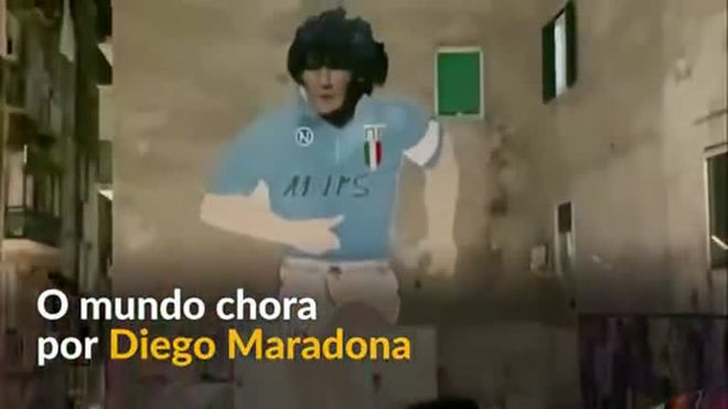 Fãs, da Argentina até a Itália, fazem homenagem a Diego Maradona