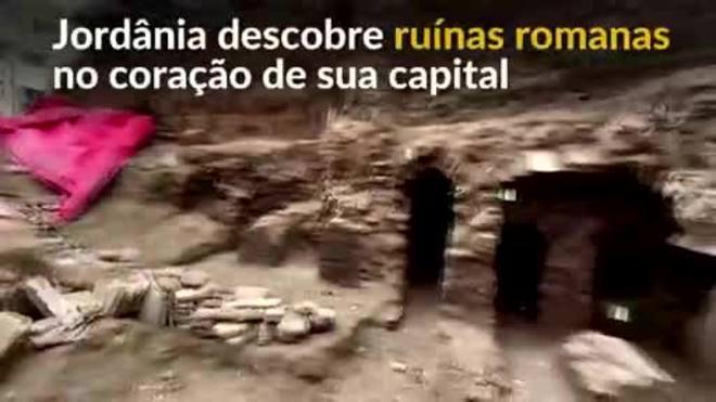 Ruínas romanas são descobertas no centro de Amã