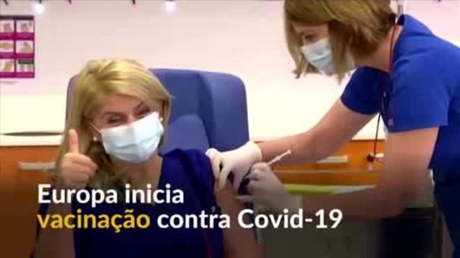Europa inicia vacinação contra covid-19