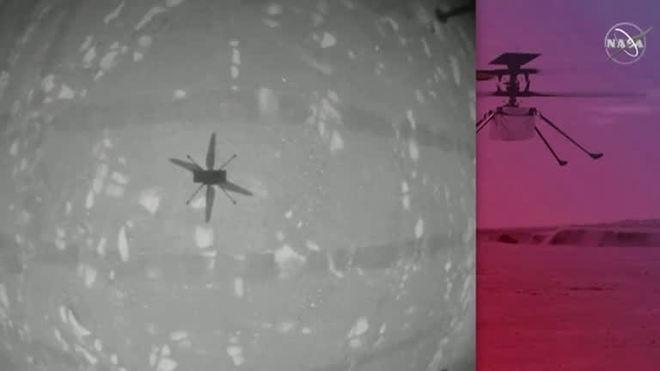 Helicóptero da Nasa faz história com voo bem-sucedido em Marte