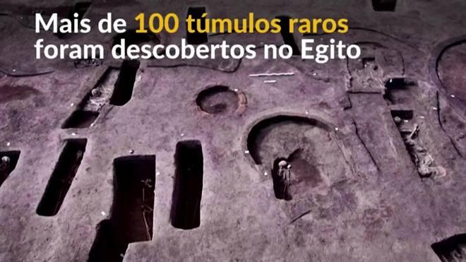 Egito descobre túmulos raros de antes dos faraós