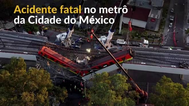 Viaduto do metrô desaba na Cidade do México e mata ao menos 24