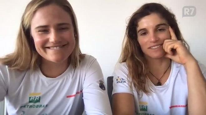 Kahena e Martine contam relação com a medalha da Rio 2016 e projetam Tóquio 2020