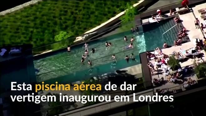 Piscina aérea com 30 metros de altura é inaugurada em Londres