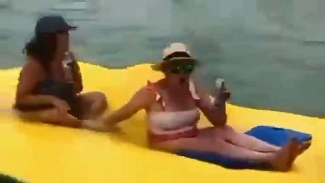 Mulheres são cercadas por grupo de tubarões em praia na Flórida