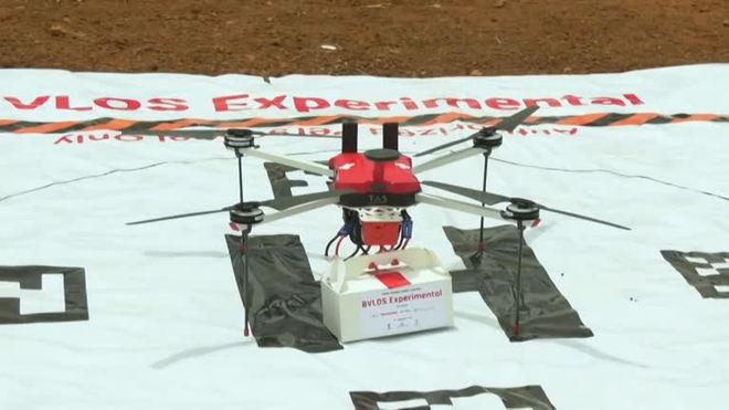 Covid-19: Índia testa delivery de vacinas com drones