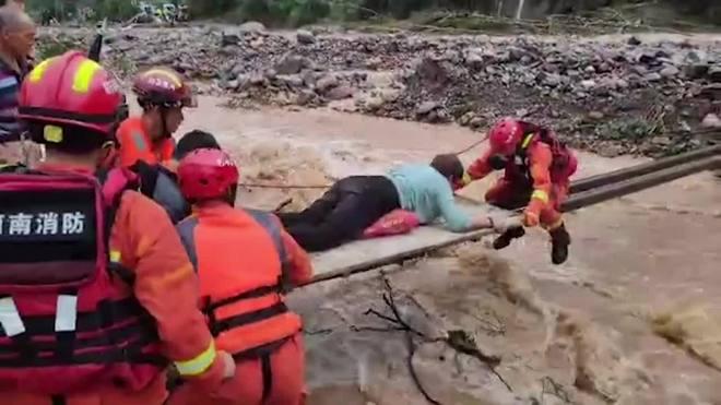 Chuvas torrenciais deixam ao menos 25 mortos na China