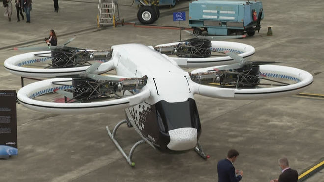 Airbus apresenta táxi voador elétrico e com bateria recarregável