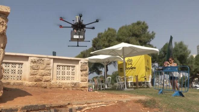 Israel testa entrega de sorvete e sushi por drones