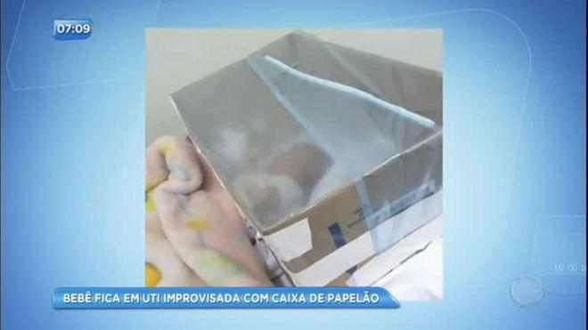 UTI improvisada em caixa de papelão salva a vida de bebê