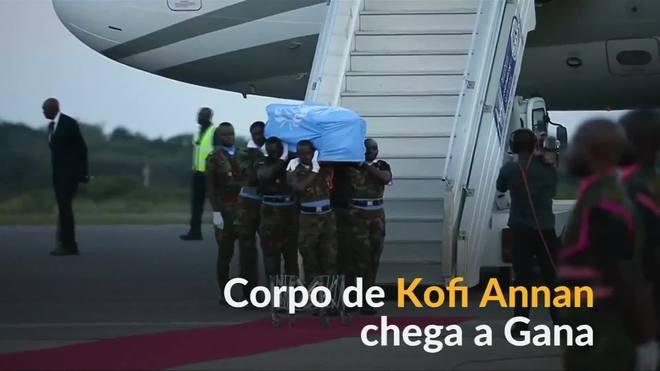 Corpo de Kofi Annan retorna a Gana para funeral de Estado