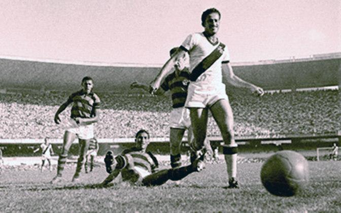 01/07/1951 - Vasco 5x1 Sporting-POR - Gols do Vasco: Ipojucan (foto) (2), Friaça, Tesourinha e Dejayr