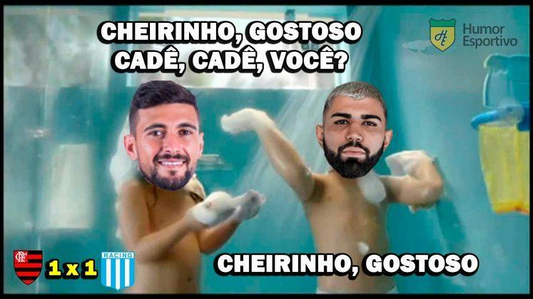 01/12/2020 - Pelas oitavas de final da Libertadores, o Flamengo foi derrotado nos pênaltis pelo Racing de Sebastian Beccacece.