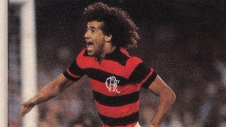 03/06/1981 - Flamengo 7 x 0 Americano - Gols do Flamengo: Nunes (foto) (3), Peu, Baroninho, Chiquinho Carioca e Andrade
