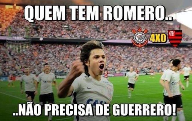 03/07/2016 - Pelo Campeonato Brasileiro, o Flamengo sofreu uma goleada por 4 a 0 para o Corinthians, com direito a dois gols de Romero.