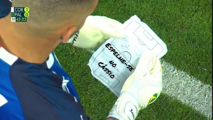 04/08/19 - Brasileirão - Corinthians 1 x 1 Palmeiras - Arena Corinthians - Gols: Manoel e Felipe Melo. O jogo ficou marcado por um bilhete enviado por Felipão ao goleiro Weverton.