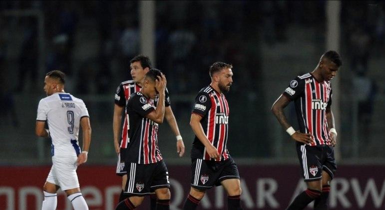 06/02/2019 - Talleres 2 x 0 São Paulo (Libertadores) - Pela primeira fase da Libertadores, derrota em solo argentino. Ramírez e Pochettino fizeram os gols que eliminaram o Tricolor.