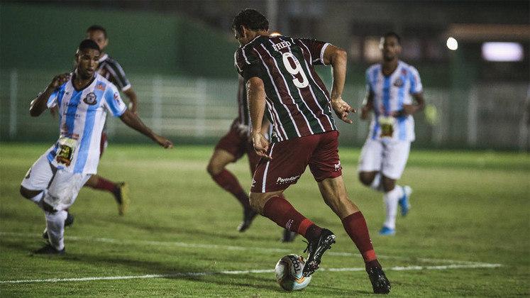 06/04/2021 - O quarto gol na temporada veio diante do Macaé, na goleada por 4 a 0. Ele fez o segundo do Fluminense naquela oportunidade.
