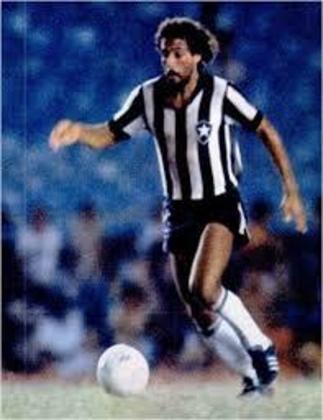 07/02/1979 - Botafogo 7 x 0 Fluminense de Friburgo - Gols do Botafogo: Luisinho Lemos (foto) (3), Gil (3) e Tiquinho