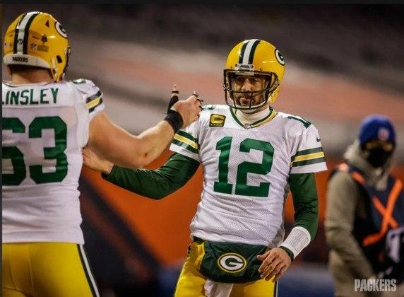 1º Aaron Rodgers: O QB dos Packers merece vencer o seu terceiro MVP. Liderou a liga em Rating, passes para TD e porcentagem de passes completos