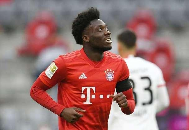 1- Alphonso Davies: O jogador do Bayern de Munique lidera a lista. Com apenas 20 anos, a estimativa de mercado do canadense é de 180 milhões de euros (R$ 1,2 bilhão na cotação atual).