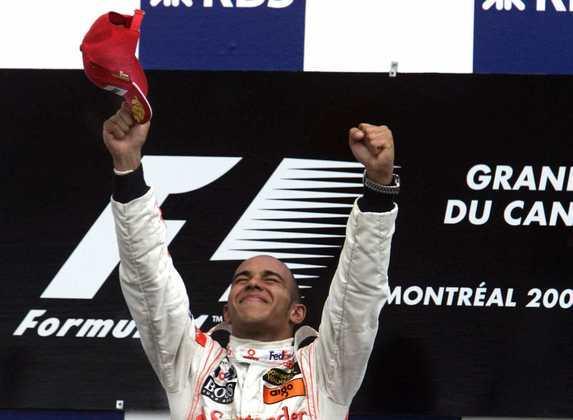 1 - Após seis corridas na Fórmula 1, o GP do Canadá de 2007 mostrou-se especial para Lewis Hamilton. Primeira pole e primeira vitória