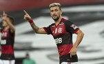 1º - Arrascaeta: Flamengo – Uruguai / Valor de mercado atual: 18 milhões de euros