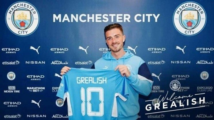 1° colocado - Manchester City - 130 jogadores contratados - Última aquisição: Jack Grealish (117,5 milhões de euros).