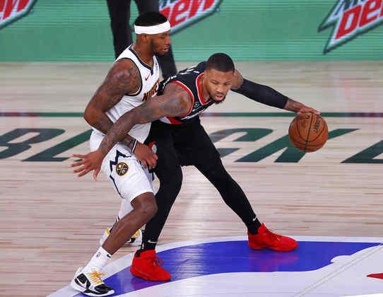 1- Damian Lillard (Portland Trail Blazers): 43 pontos, 12 assistências, quatro rebotes, três roubadas, 11 em 18 nos arremessos de três pontos. Se existe uma chance de o Blazers ir aos playoffs, muito será por conta de Lillard. O armador tomou conta do time na vitória sobre o Denver Nuggets por 125 a 115