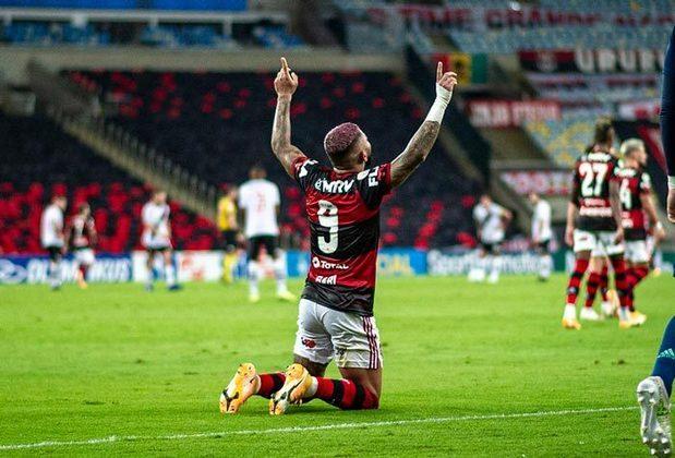 1º - Flamengo: 33 pontos - 10 vitórias - três empates - quatro derrotas - 31 gols feitos - 22 gols sofridos.