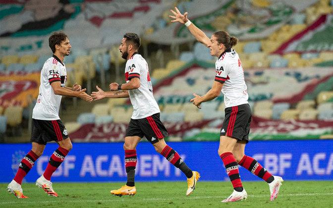 1 – Flamengo: no grupo A, tem valor de mercado estipulado em 122,85 milhões de euros (R$ 772,77 milhões)