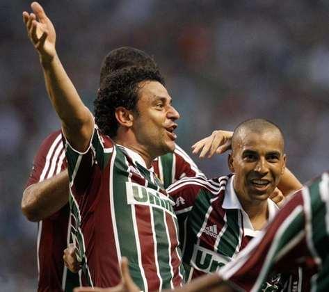 1º - Fred - 147 gols - Três vezes artilheiro do Campeonato Brasileiro e duas vezes campeão, Fred é o líder do ranking. Quarto maior goleador da história da competição, o novo reforço do Fluminense está a apenas seis de igualar a marca de Edmundo, o 3º no ranking de todos os tempos. De volta ao Flu, terá uma nova oportunidade em 2020.