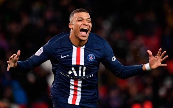 1º - Kylian Mbappé (Atacante do Paris Saint-Germain) - 180 milhões de euros.