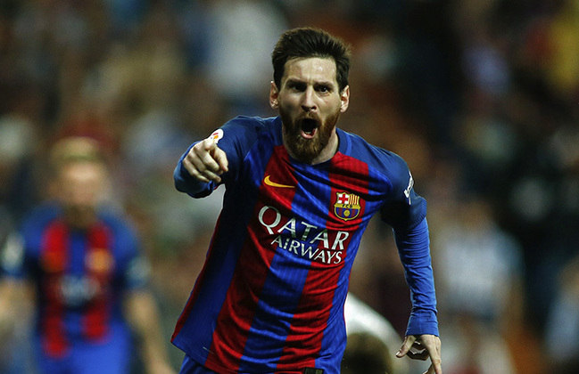 1 Lionel Messi - 0.87 gols por jogo (630 gols em 726 jogos)
