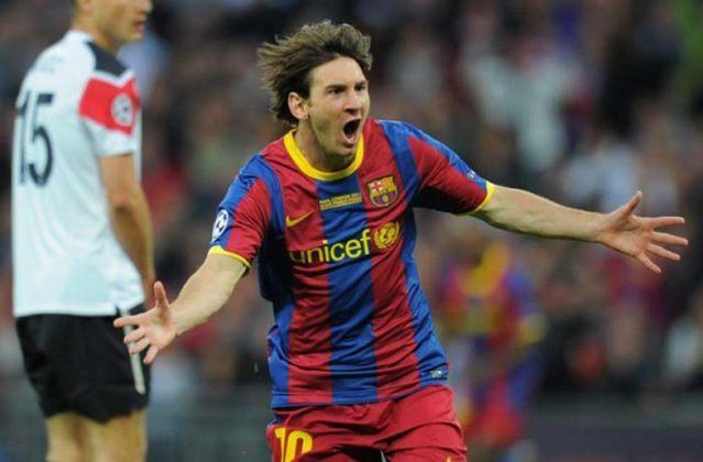 1 - Lionel Messi - País: Argentina - Posição: Atacante - Clube: Barcelona
