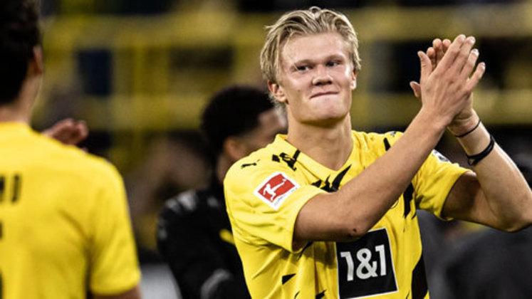 1º lugar: Erling Haaland (atacante norueguês - 20 anos - Borussia Dortmund) - 302 pontos na votação
