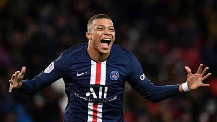 1º lugar - Kylian Mbappé - Pais: França - Idade: 22 anos - Posição: Atacante - Clube: Paris Saint-Germain - Valor de acordo com a consultoria KPMG em maio de 2021: 189 milhões de euros (aproximadamente R$ 1,209 bilhões)