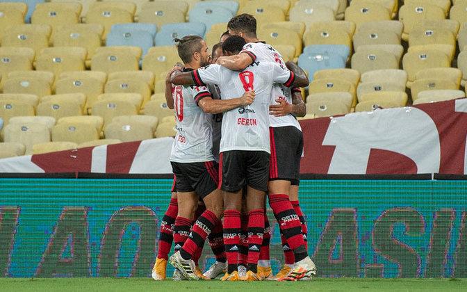 1 – Por fim, fechando a lista, o Flamengo aparece na liderança, com um total de 46.285.200 seguidores e 26,4% de participação nessa lista.