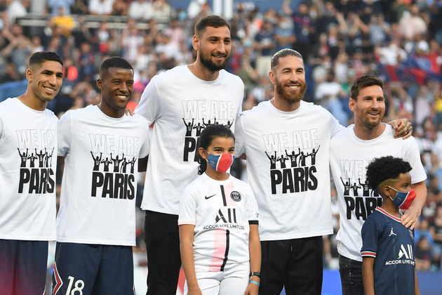 1º - PSG: Lionel Messi, Sergio Ramos, Gianluigi Donnarumma, Achraf Hakimi, Georginio Wijnaldum e Nuno Mendes.