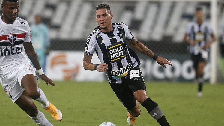 1º - Rafael Navarro - Posição: Atacante - Clube: Botafogo - Idade: 21 anos - Valor de mercado segundo o Transfermarkt: 2,5 milhões de euros (aproximadamente R$ 15,48 milhões) - Contrato até: 31/12/2021