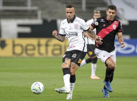 1ª rodada - Corinthians 0 x 0 Atlético-GO: Cássio; Michel Macedo, Gil, Danilo Avelar e Lucas Piton; Roni e Cantillo; Otero, Luan e Léo Natel; Jô.