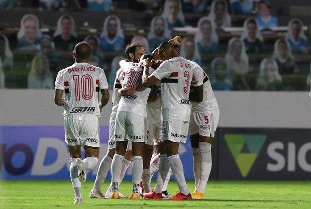 1 – SÃO PAULO: 13 pontos em 5 jogos. Quatro vitórias, um empate e nenhuma derrota. Dez gols marcados e cinco sofridos. 86.67% de aproveitamento.