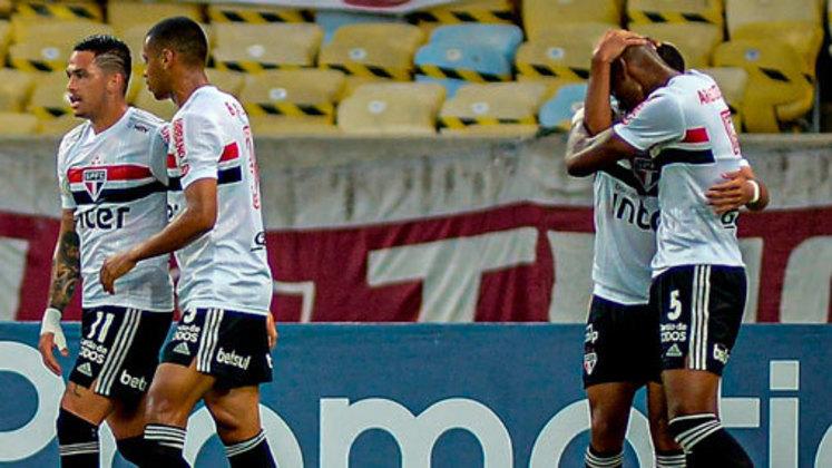 1 – SÃO PAULO: 19 pontos em 8 jogos. Seis vitórias, um empate e uma derrota. Quinze gols marcados e sete sofridos. 79,17 % de aproveitamento.