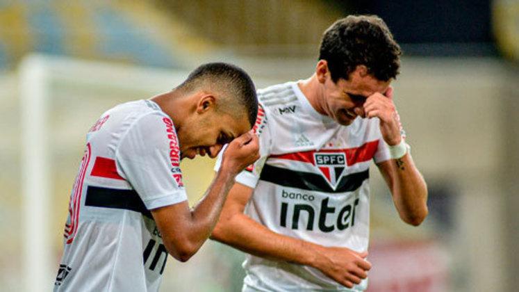 1 – SÃO PAULO: 19 pontos em 9 jogos. Seis vitórias, um empate e duas derrota. Dezessete gols marcados e onze sofridos. 70.37% de aproveitamento.