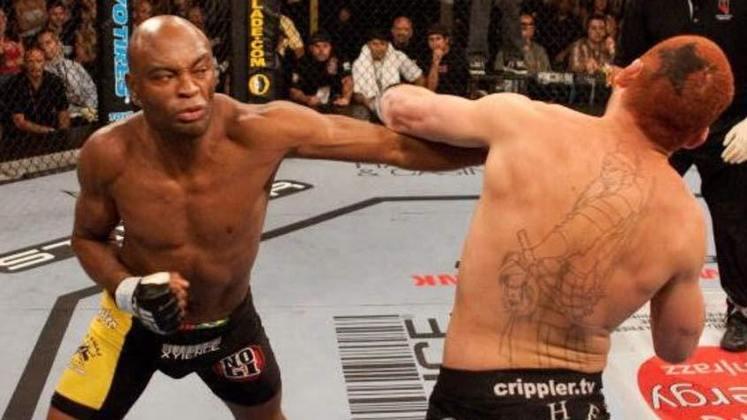 10ª. Anderson Silva x Chris Leben (UFC Fight Night 5) - Em junho de 2006, o Spider estreou no UFC com uma vitória esmagadora sobre o americano Chris Leben, até então invicto no Ultimate. A vitória foi por nocaute com apenas 49 segundos de luta
