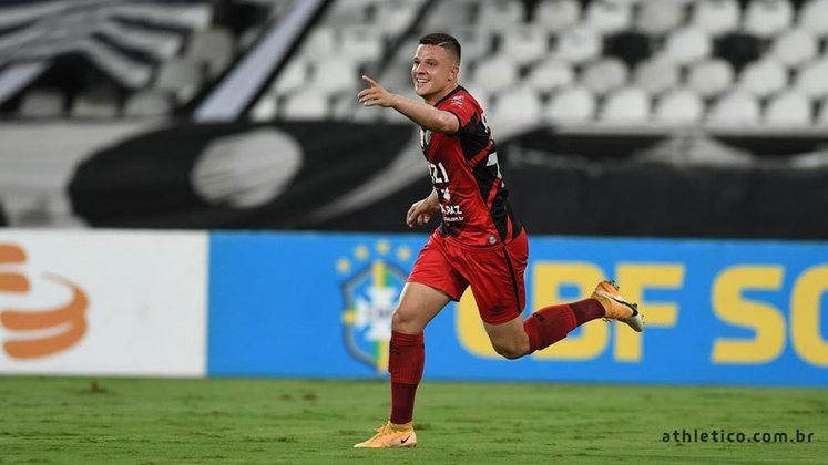 10º colocado – Athletico-PR (37 pontos/28 jogos): 0.002% de chances de ser campeão; 3.7% de chances de Libertadores (G6); 0.85% de chances de rebaixamento.