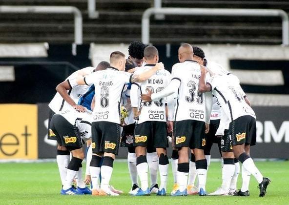 10º colocado – Corinthians (25 pontos) – 0,32% de chance de título; 10,8% para vaga na Libertadores (G6); 10,9% de chance de rebaixamento.